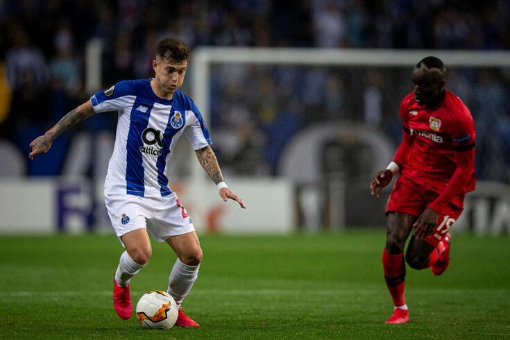 Otávio, à esquerda na imagem, afirmou-se com Sérgio Conceição no FC Porto