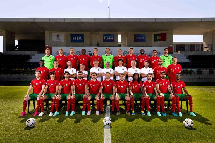 A foto oficial da Seleção portuguesa para o Euro'2020