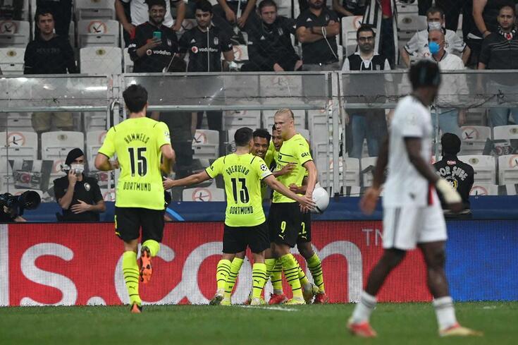 Dortmund venceu em casa do Besiktas
