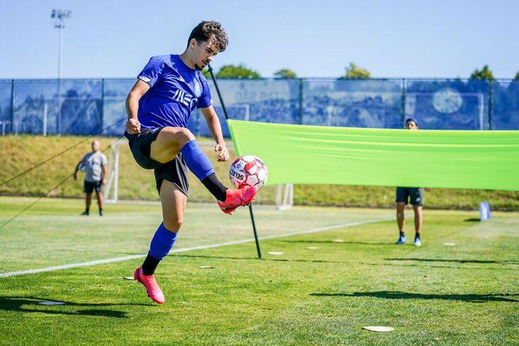 Vítor Ferreira durante o treino do FC Porto
