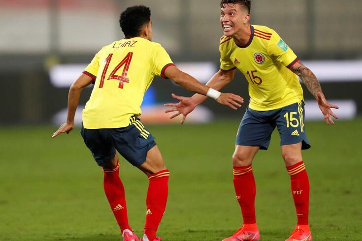 Uribe e Luis Díaz, companheiros no FC Porto e na seleção colombiana