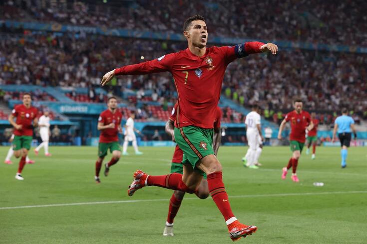 Ronaldo marcou cinco golos no Europeu