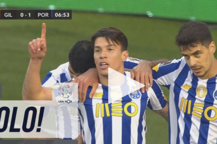 """Uribe encheu o pé e """"fuzilou"""" Denis no Gil Vicente-FC Porto"""