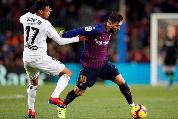 Messi evita derrota caseira do Barcelona frente ao Valência