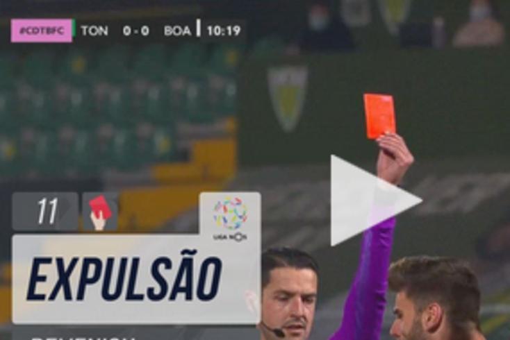 Vermelhos diretos deixam Boavista sem dois centrais para o Sporting