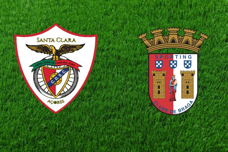 Santa Clara-Braga acaba empatado. Recorde o jogo