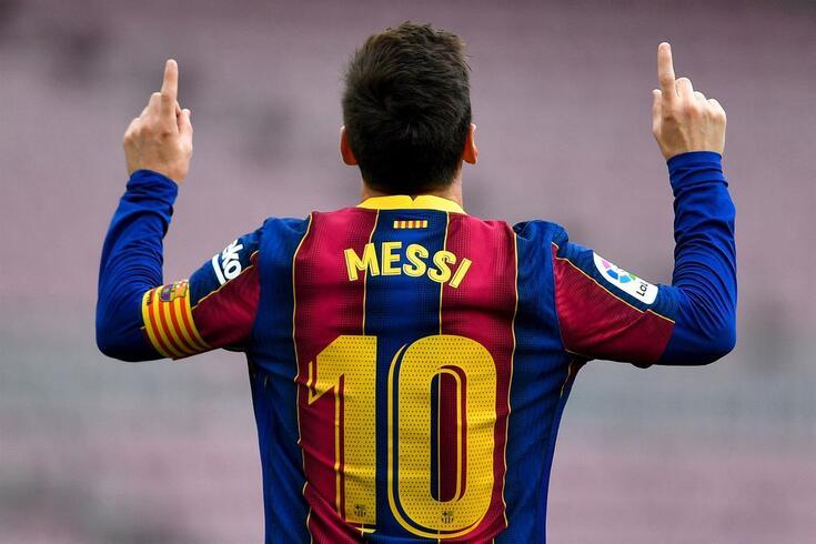Lionel Messi a caminho de Paris