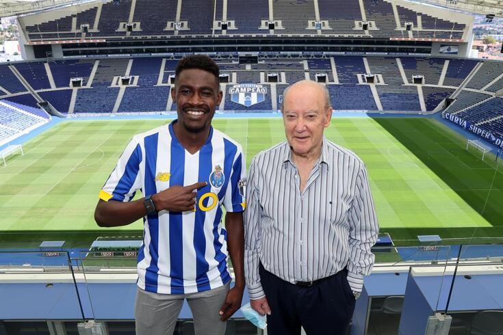 Zaidu com Pinto da Costa, presidente do FC Porto