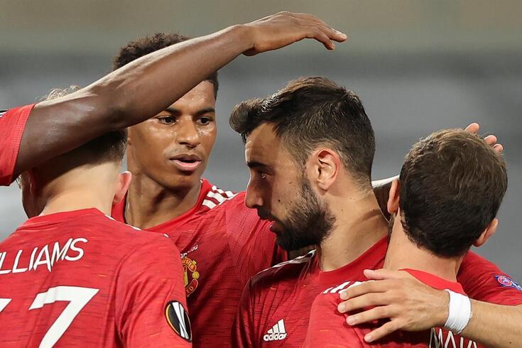 Golo de Bruno Fernandes colocou Manchester United nas meias-finais da Liga Europa