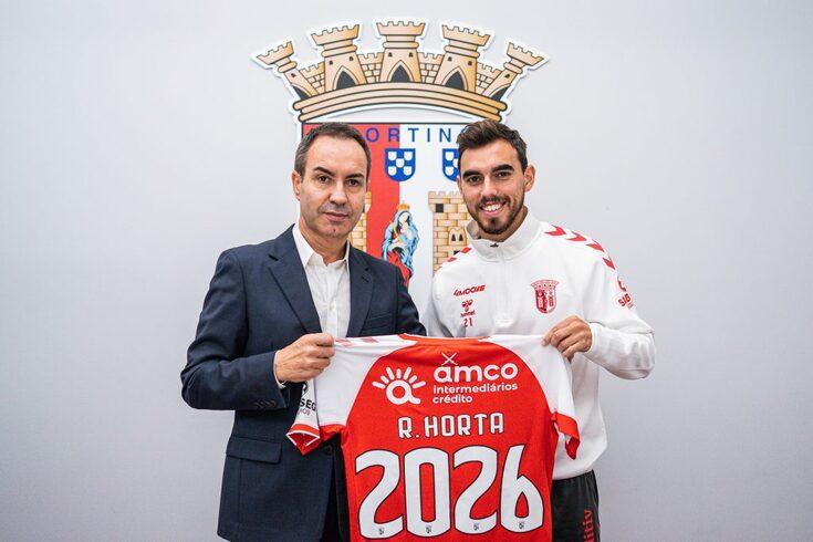 Ricardo Horta renovou com o Braga