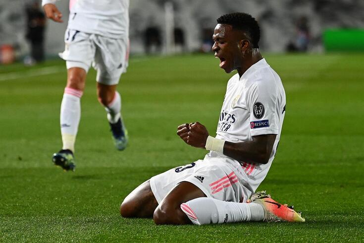 Vinícius Júnior brilhou frente ao Liverpool