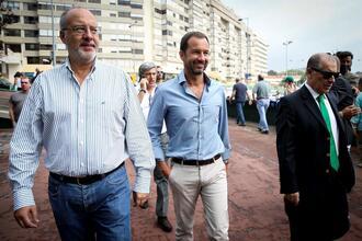 Rogério Alves com Frederico Varandas ao lado