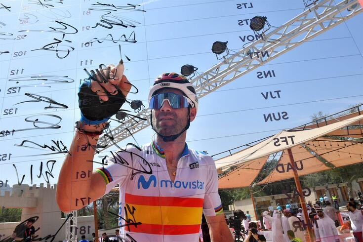 Alejandro Valverde, ciclista da Movistar