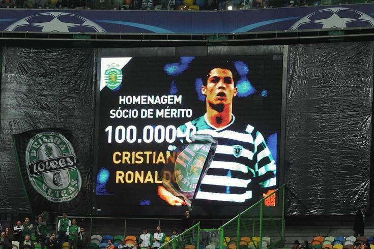 Ronaldo é o sócio 100 mil do Sporting