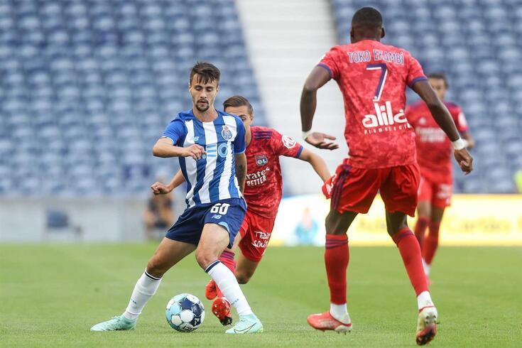 Fábio Vieira marcou um dos golos do FC Porto frente ao Lyon