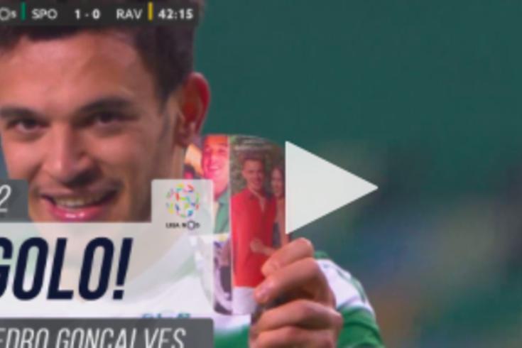 Pedro Gonçalves abre marcador do Sporting-Rio Ave: 12.º golo com dedicatória especial