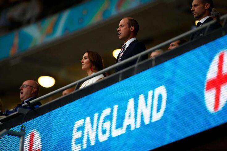 O Príncipe William com a esposa, a Duquesa de Cambridge