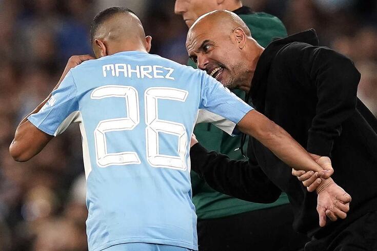 Mahrez e Guardiola