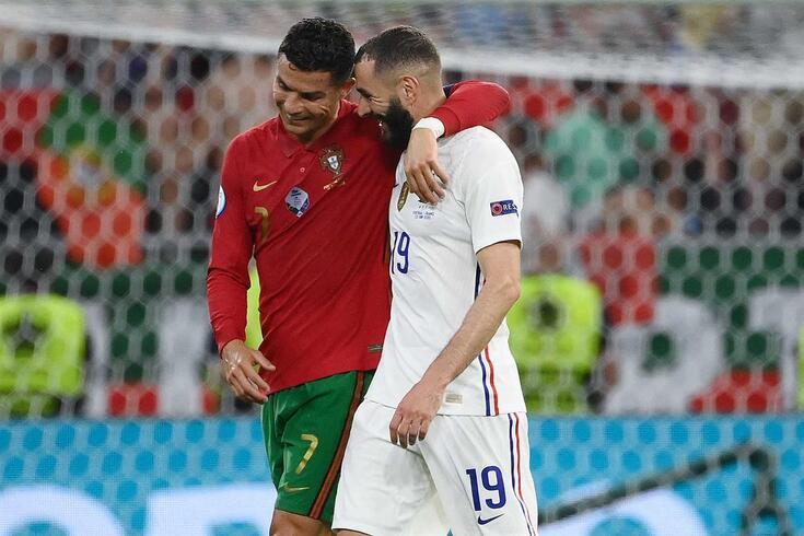 Ronaldo e Benzema em clima de grande cumplicidade