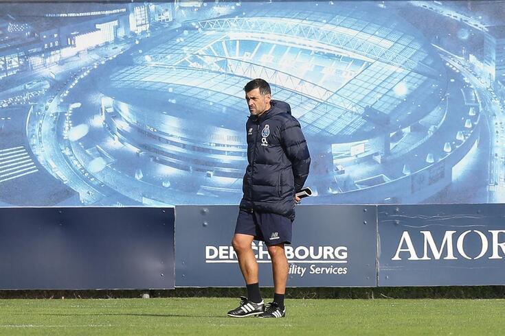 Sérgio Conceição prepara a estratégia para a receção ao Liverpool