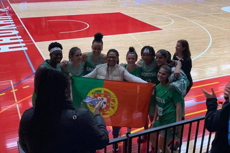 União Sportiva em representação do basquetebol português