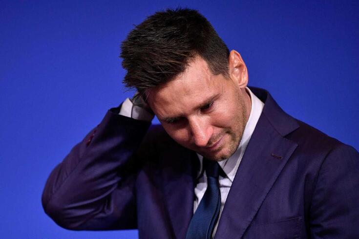 Messi despediu-se em lágrimas do Barcelona
