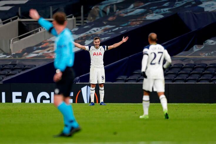 Winks marcou um golaço na vitória do Tottenham sobre o Ludogorets