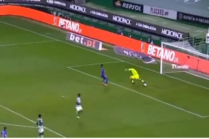 O tremendo erro de Adán que originou o segundo golo do Belenenses