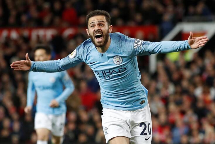 Bernardo Silva está em grande no Manchester City