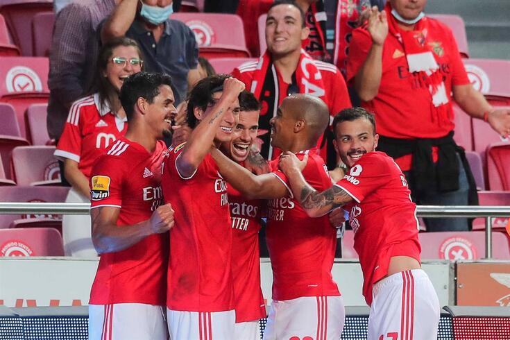Benfica soma seis vitórias em seis jogos na Liga Bwin