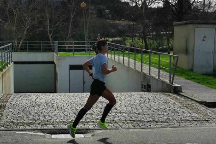 Sara Moreira, maratonista do Sporting