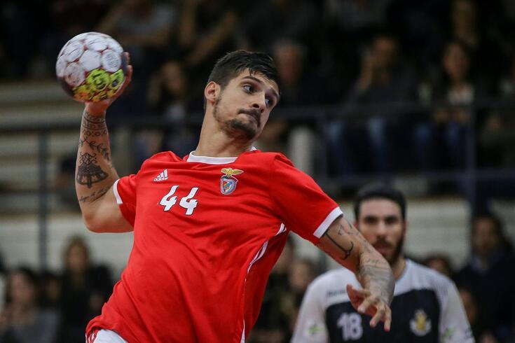 Petar Djordjic, do Benfica, foi o melhor marcador do jogo com nove golos