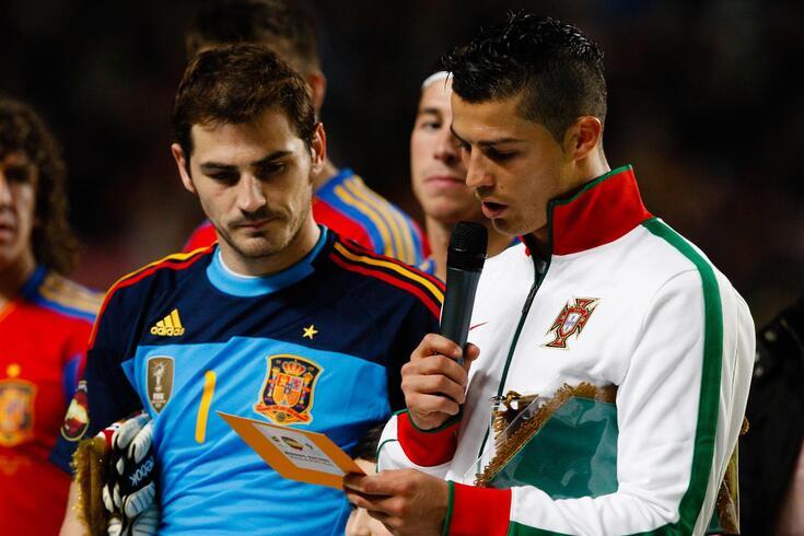 Iker Casillas e Cristiano Ronaldo