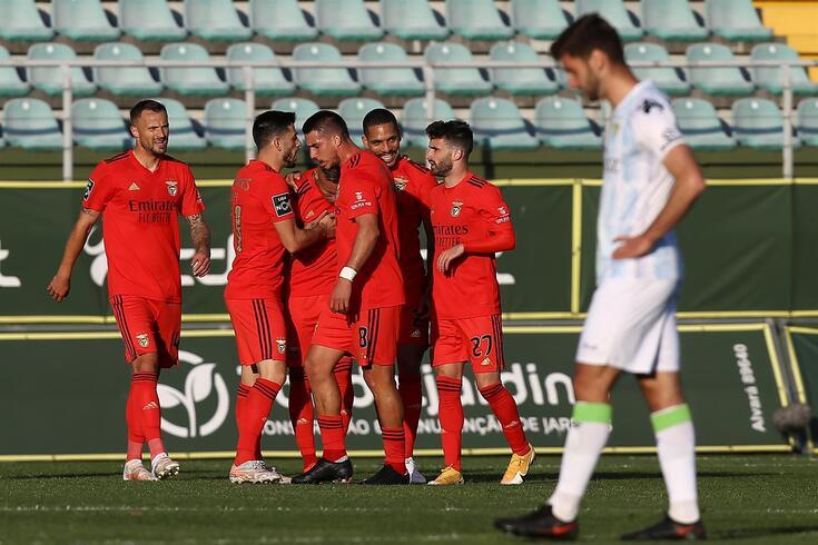 Benfica somou três pontos em Tondela