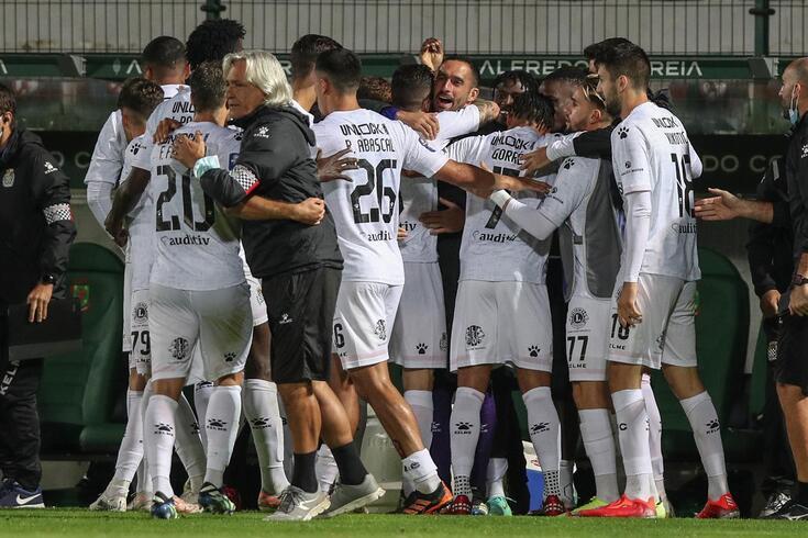 A festa dos jogadores do Boavista