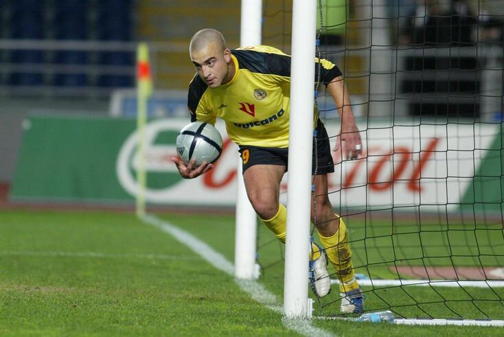 """""""Tanque"""" Silva depois de apontar um dos oito golos que apontou no Beira-Mar"""