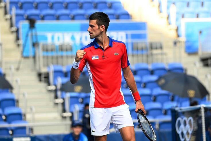 Novak Djokovic queixou do calor em Tóquio