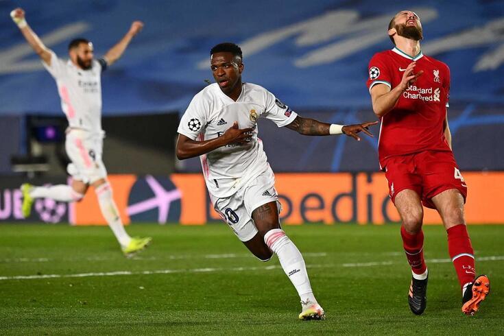 Vinícius Júnior brilhou na vitória do Real sobre o Liverpool