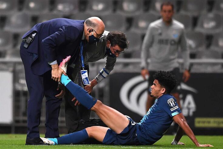 Luis Díaz lesionou-se no jogo com o Braga