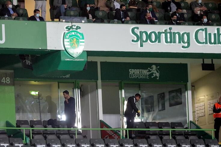 Rúben Amorim está suspenso e não se sentou no banco de suplentes