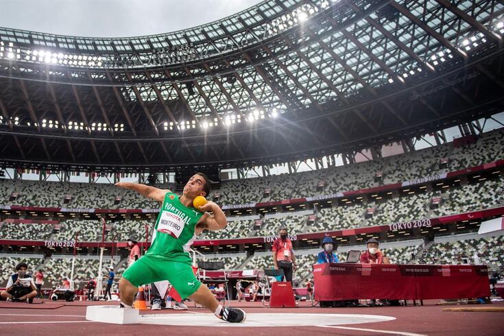 Miguel Monteiro em ação nos Jogos Paralímpicos
