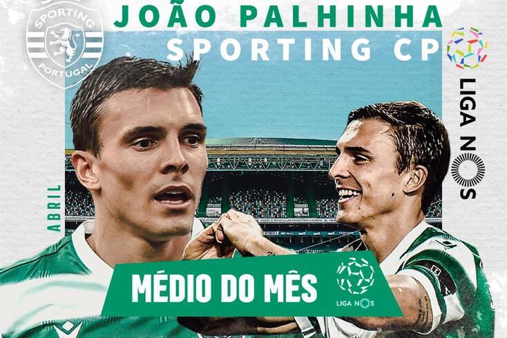 João Palhinha, futebolista do Sporting, foi eleito como o melhor médio a atuar na Liga NOS durante o