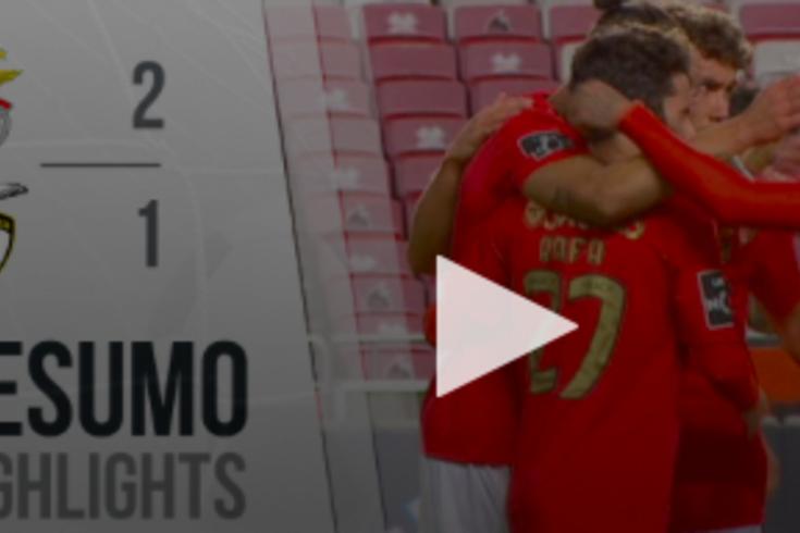 Benfica venceu o Portimonense por 2-1