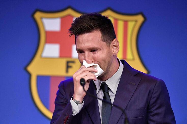 Messi emocionou-se na conferência de Imprensa de despedida