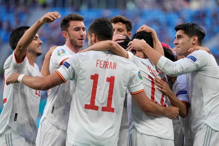A festa dos jogadores espanhóis