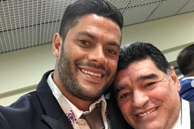 Hulk com Maradona