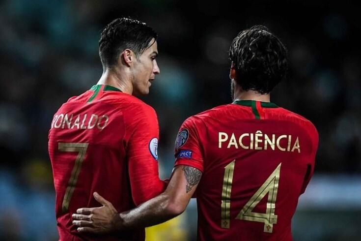 Cristiano Ronaldo e Gonçalo Paciência na Seleção Nacional