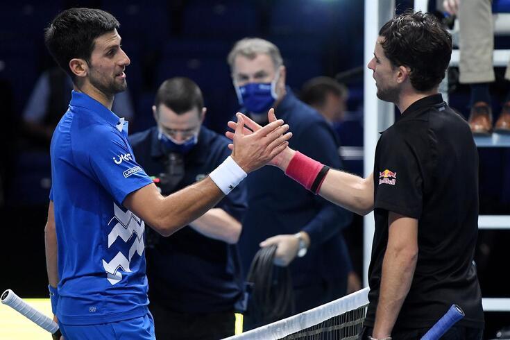 Djokovic com Dominic Thiem