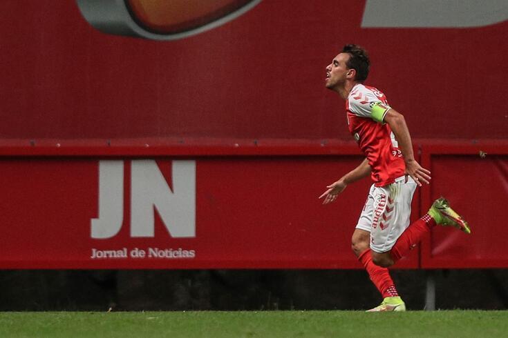 Ricardo Horta marcou o 56.º golo, diante do Tondela, no jogo 200 no escalão principal