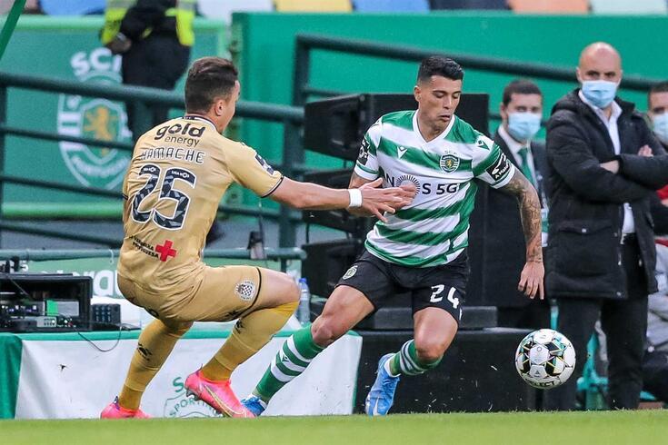 Pedro Porro saiu lesionado no Sporting-Boavista